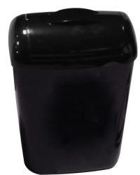 Hygiënebak 8 liter kunststof zwart