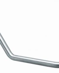 Angled bar RVS met hoek van 130