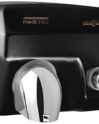 Handendroger zwart drukknop