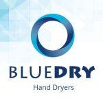 Blue Dry Jet Blade handsin handendroger droge handen in 10 seconden.