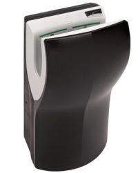 Handendroger hands-in zwart automatisch