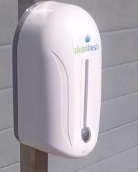 CleanFresh automatische handzeep dispenser kleur wit op batterijen