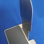 RVS houder om automatische dispenser op tafel of balie te plaatsen
