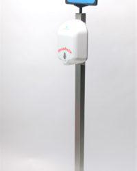 Desinfectie- of hygiene zuil van rvs met automatische dispenser