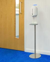 Hygiene zuil voor balie en op zuil met automatische dispenser